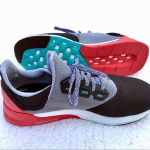 ADIDAS SUPERCLOUD Red/Gray/Black Running Shoes